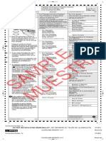 Cleveland Heights Sample Ballot