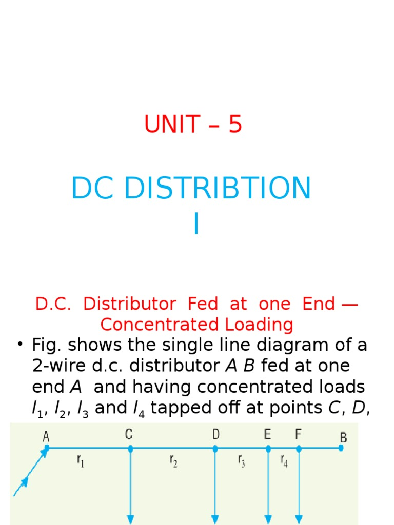 Unit 5 Dc Distribution I Electrical Resistance And Conductance 2wire Distributor Wiring Diagram Voltage