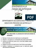 Aspectos Claves Proceso Matricula Udea