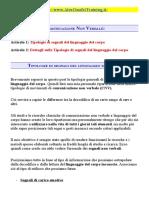 Comunicazione Non Verbale - Tipologie Di Segnali (AOT)