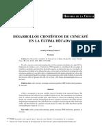 DESARROLLOS CIENTÍFICOS DE CENICAFÉ EN LA ÚLTIMA DÉCADA