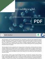 Investor Presentation - November 2016 [Company Update]