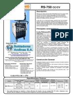 Rs 750 Cc Cv Español