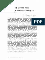 Le Moyen Age Et Le Naturalisme Antique - Étienne Gilson