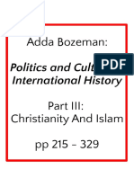 Bozeman, Adda - Politics and Culture in International History - Part III