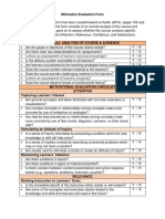 motivation evaluation form