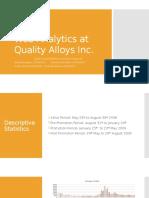 Web Analytics at Quality Alloys Inc