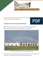 Clasificación y Tipos de Haciendas Mexicanas