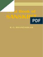 Bhandarkar First Book of Sanskrit 1883