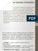 Distribution System Reliability