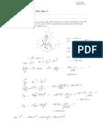 Quiz Sheet 1 Solution