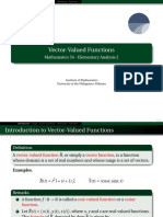 18 Vector Valued Functions