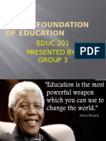 Moral Foundation of Education