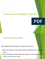 Routh-Hurwitz Stability Criterion