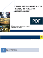 Kebutuhan Batubara PLTU PLN-IPP Proyek 35GW