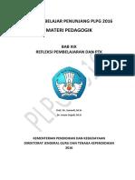 Bab Ix Refleksi Pembelajaran Dan Ptk