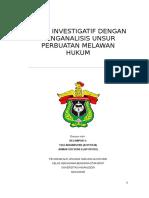 Makalah Kelompok 2 _ Audit Investigatif Dengan Menganalisis Unsur Perbuatan Melawan Hukum