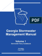 Georgia Stormwater Management Manual Volume 1