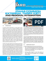The ECOWAS CET and Regional Integration ECO VANGUARD Dec 2012 English Edition