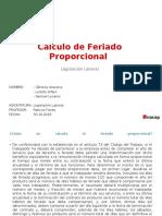FERIADO PROPORCIONAL