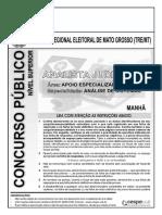 Prova_CESPE - 2010 - TRE-MT - Analista Judiciário - Tecnologia Da Informação