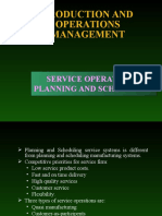 Service Operations Planning and Scheduling