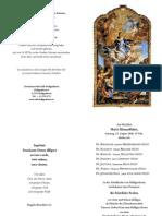 Feierliche Profess 2010 - Die Sieben-EINLADUNG