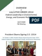 Executive Order 13514 October 2009 Environmental