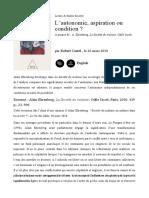 La Société  Du Malaise. Commentaires de Castel.