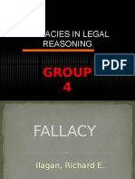 Fallacies in Legal Reasoning