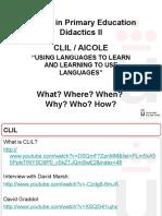Language Methodologies Vb (Clil)