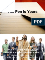 The Pen is Yours