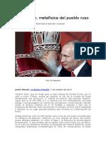 La Religión, metafísica del pueblo ruso