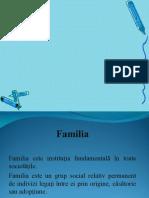 evolutia familiei
