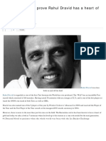 7 Incidents Which Prove Rahul Dravid Has a Heart of Gold