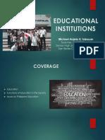 Lesson 10 - Educational Institutions