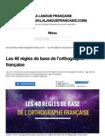 Les 40 règles de base de l'orthographe française _ La langue française.pdf