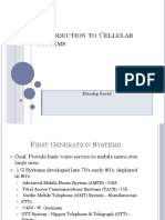 Introduction to Cellular Systems