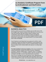 Business Analytics Course Brochure