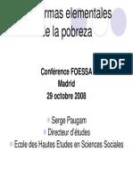 Las Formas Elementales de La Pobreza - FOESSA 2008