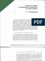 Gestion Del Conflicto en organizaciones Cooperativas