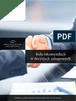 Obserwatorium- Raport Rola Rekomendacji w Decyzjach Zakupowych - Obserwatorium Zarzadzania