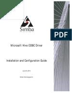 Microsoft Hive ODBC Driver Install Guide