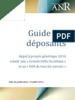 Pa Anr 2014 Aap Generique Guide Deposants