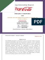 Coca-Cola Summer Internship Report