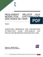 Reglement Financier ANR RF 2013 01