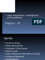 CISSP - 10 Legal, Regulations, Investigations & Compliance