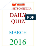 Daily Quiz Mar 2016