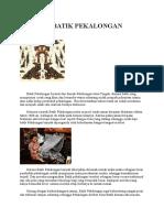 Sejarah Batik Pekalongan