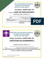 Certificado Spara Poli